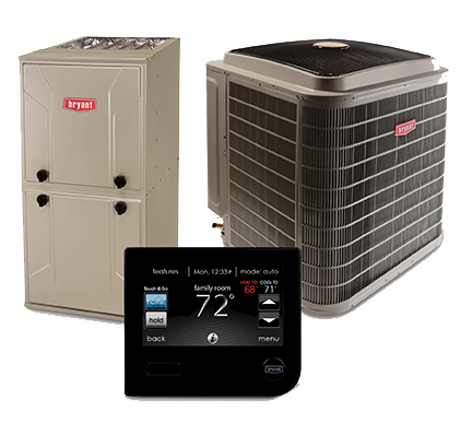 bryant furnace ac unit and thermostat